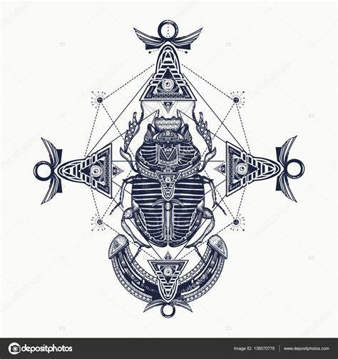 scarab tattoo ancient egypt mythology egyptian scarab