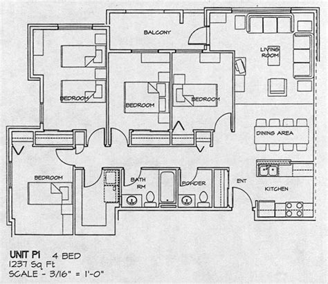 four bedroom house floor plan city gate housing co op floor plans