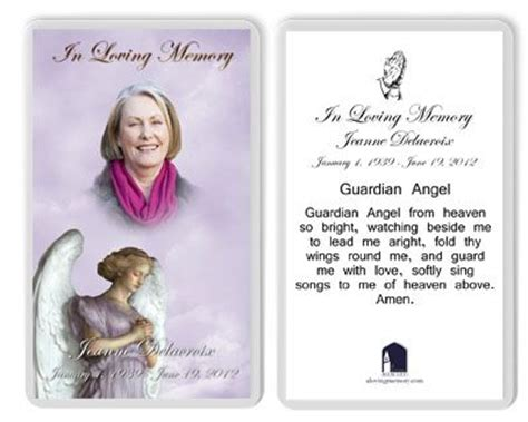 Laminated Prayer Cards Templates by 59 Best Images About Memorial Gifts Keepsakes On