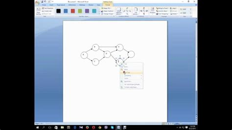 How To Make A Network Diagram In Microsoft Word Youtube Network Diagram Template Word