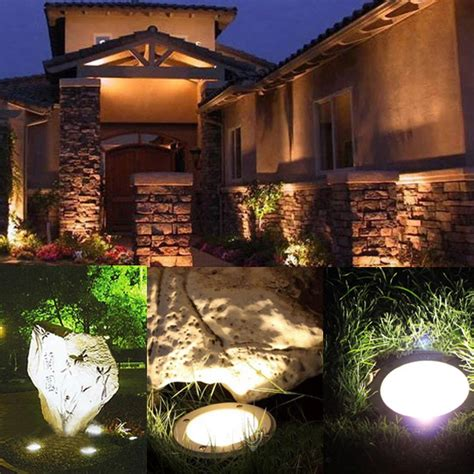 outdoor ground flood lights 3w led waterproof outdoor in ground garden path flood