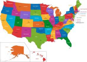 stock photos of political map of united states of