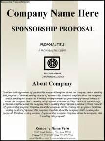 Template For Sponsorship sponsorship new calendar template site