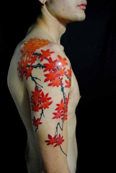 tattoo japanese maple tattoo by japanese artist gakkin gettin inked
