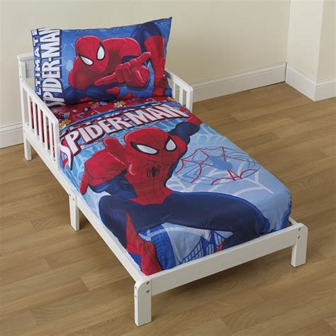 Marvel Toddler Boy S 4 Piece Bedding Set Baby Baby Marvel Bedding Sets