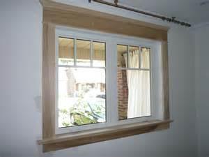 Modern window trim the vinyl window has simulated