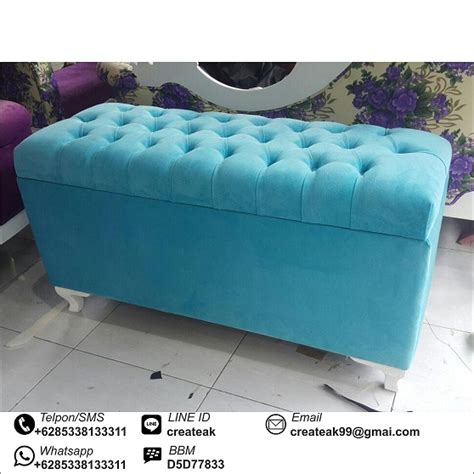 Paket Sofa Storage Dan Peti Bench Storage Rotan Sintetis bangku minimalis storage createak furniture createak furniture