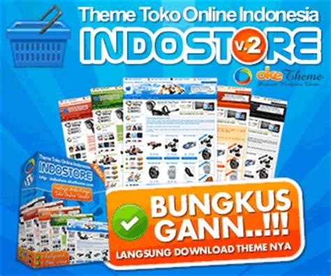 Theme Template Toko Indostore panduan sukses toko