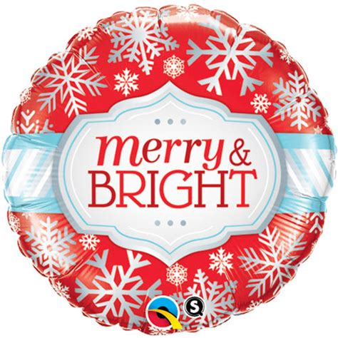 Sale Balon Foil Pentungan Merry By Esslshop2 merry and bright 18 foil balloon balloons co uk