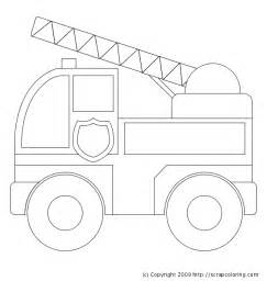 firetruck coloring page truck coloring page