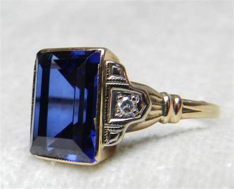 sapphire ring vintage deco sapphire ring 2 75 carat
