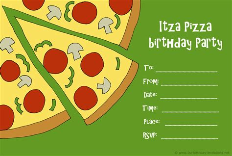 pizza party invitations gangcraft net