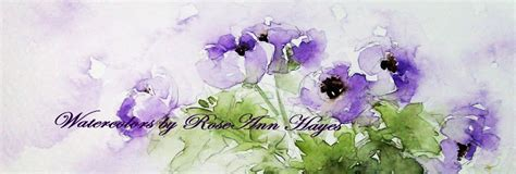 Pink Combination watercolor paintings by roseann hayes