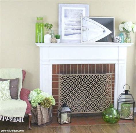 Vases For Fireplace Mantels by Green With Decor 5 Pieces To Use For A Beachy Summer Mantel