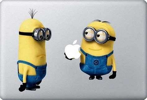 Minions Despicable Me With Apple Iphone Dan Semua Hp despicable me minions mac decal macbook stickers by bestack 8 50 things my and i like