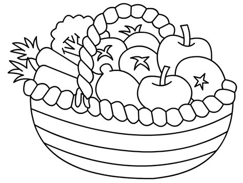 fruits basket coloring pages az coloring pages