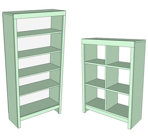 simple bookshelf design ez bookcase plans