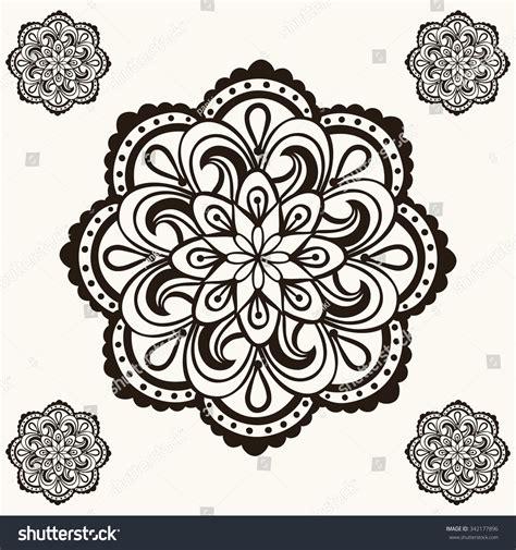 mandala tattoo vector vector henna mandalas makhenda bohemian tattoo stock