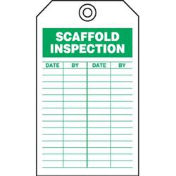 safety inspection tags scaffold inspection seton
