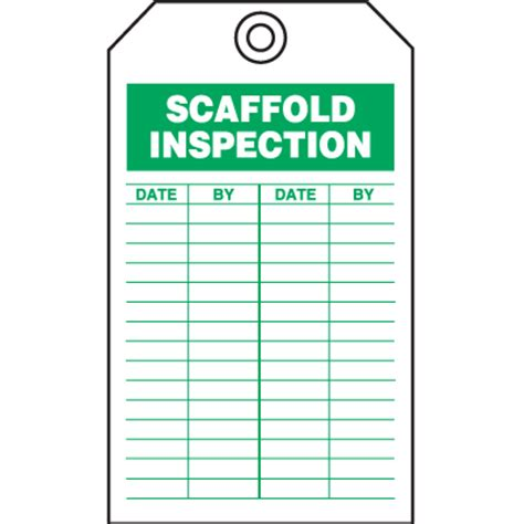Safety Inspection Tags Scaffold Inspection Seton Scaffold Safety Program Template