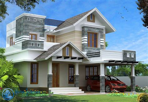 style house modern kerala style house design with 4 bhk