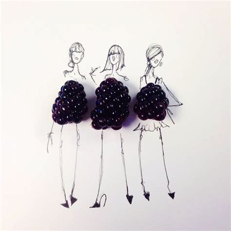 fashion illustration with food fashion illustrator completes dress sketches with food