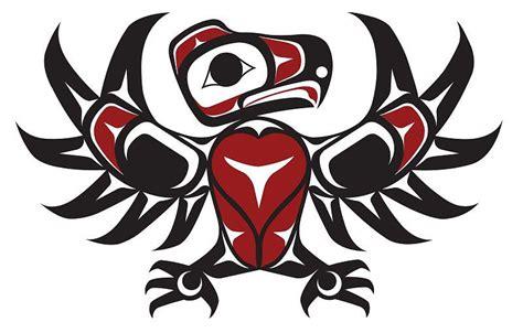 northwest coastal eagle tattoo design painting by