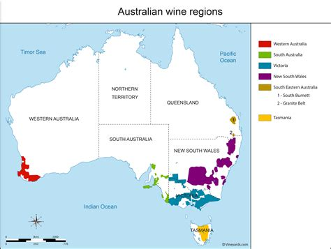 map of australia regions australia map of vineyards wine regions