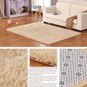 anti skid fluffy shaggy area rug bedroom carpet floor mat