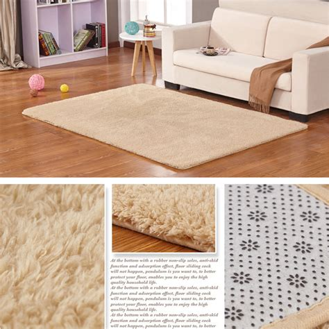 bedroom floor rugs anti skid fluffy shaggy area rug room bedroom carpet floor mat 80x50cm 7color ebay