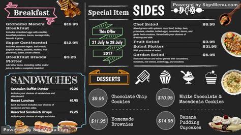 digital menu bords digital signage display video menu board
