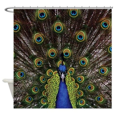 peacock colour curtains peacock shower curtain by expressivemind