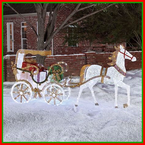 lighted and carriage outdoor pre lit lighted carriage outdoor