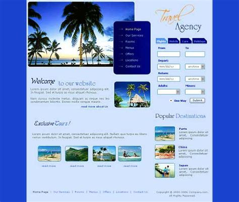 templates for travel website free download travel website template 25 designs to download
