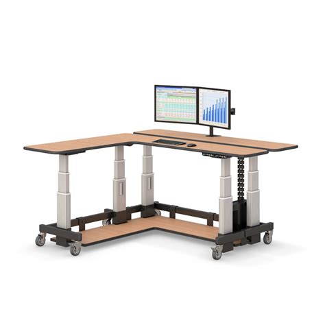 l shaped sit stand desk two level l shaped sit stand desk afcindustries com
