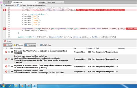 xamarin android listview layout c how to create a listview in fragment for xamarin