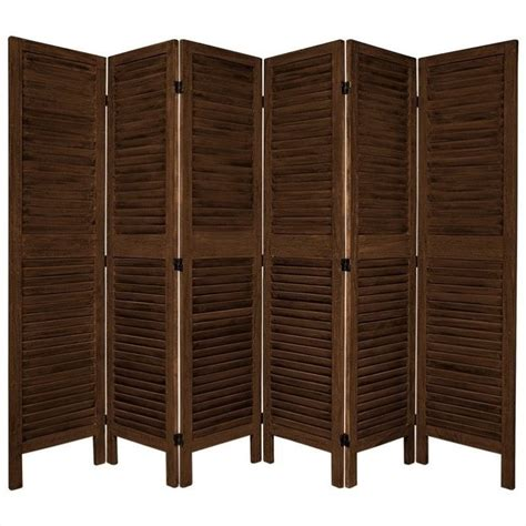 Venetian Room Divider Furniture Classic Venetian 6 Panel Room Divider In Brown Fj Ven 6p Bbrn