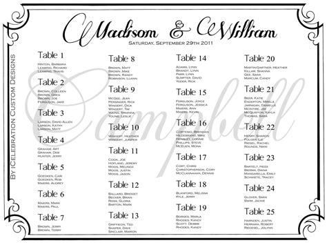 vintage wedding seating chart free rush service by