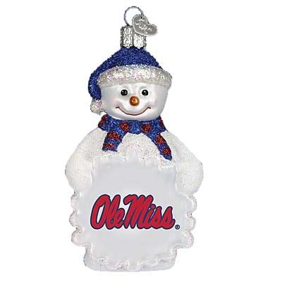 ole miss ornaments of mississippi ole miss snowman ornament
