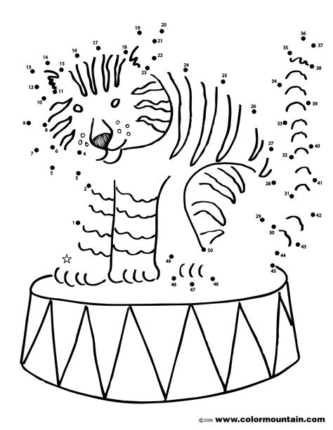 circus tiger coloring page free coloring pages of circus tiger