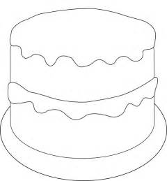 cake template birthday cake to color clip at clker vector clip