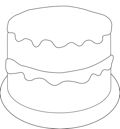 Birthday Cake Template birthday cake to color clip at clker vector clip