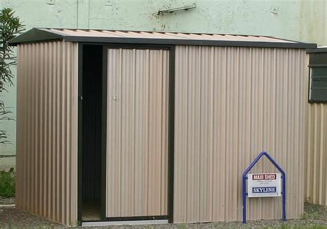 Sheds With Sliding Doors by Maxi With Single Sliding Door Garden Sheds Skyline