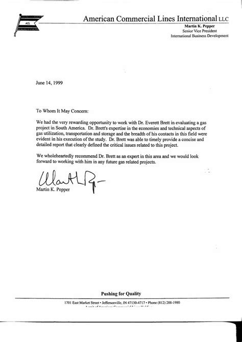 Best Recommendation Letter For