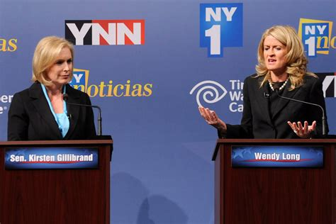 kirsten gillibrand debate gillibrand and long clash in debate for u s senate the