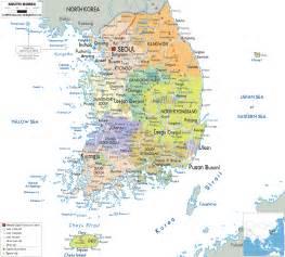 political map of korea detailed political map of south korea ezilon maps