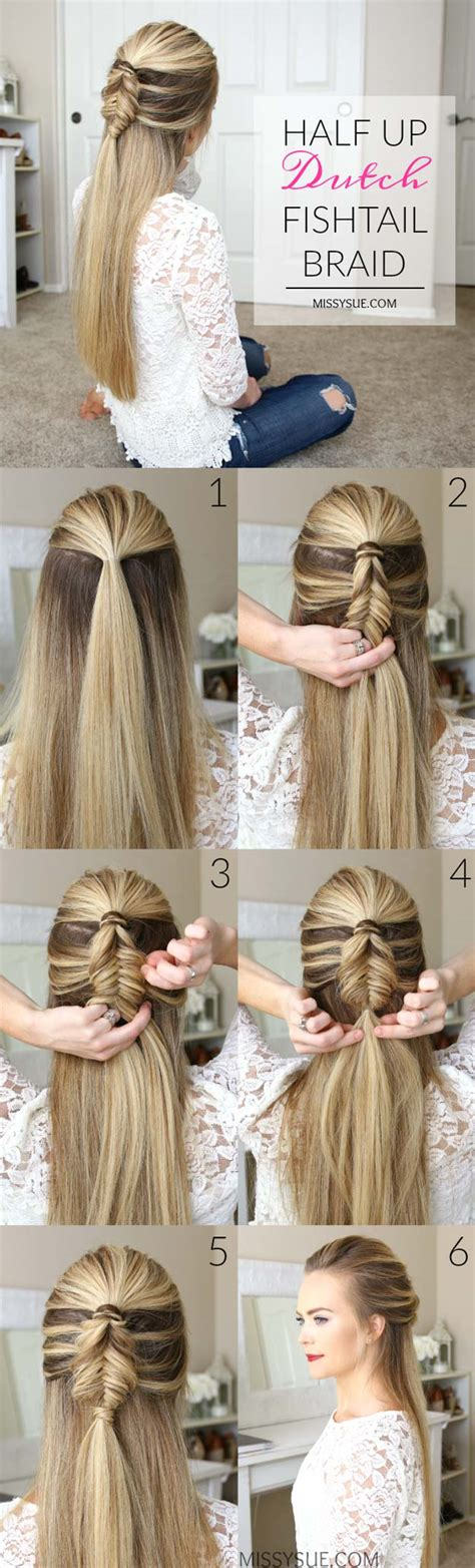 Braided Hairstyles Easy Steps by 60 Easy Step By Step Hair Tutorials For Medium And
