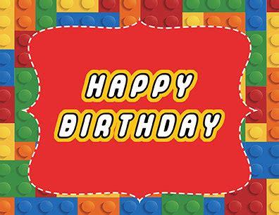 printable lego happy birthday cards lego happy birthday party sign printable by