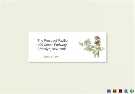 Card Address Labels Template by Fall Wedding Address Labels Card Template In Psd Word