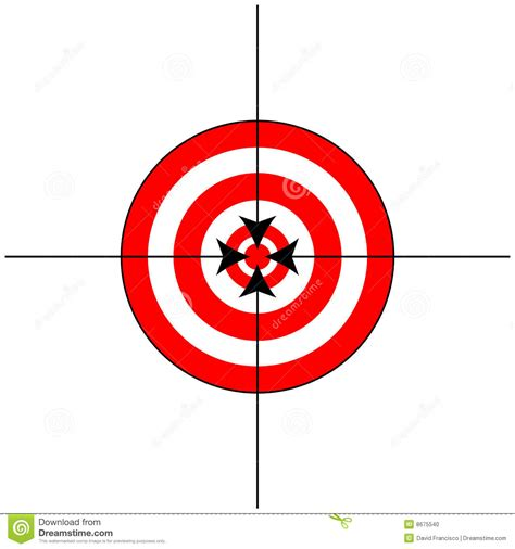printable crosshair targets target sign with crosshairs stock illustration